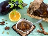 Рецепта Сладко от патладжани с индрише в буркани (зимнина)